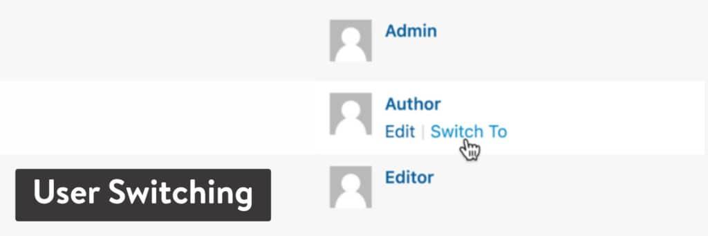 El plugin 'User Switching' WordPress