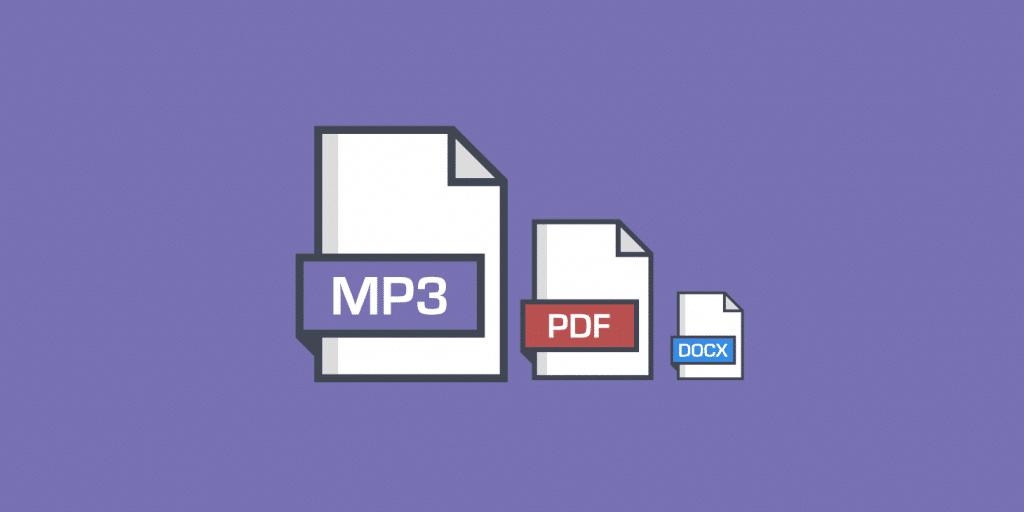 pdf mp3 hosting