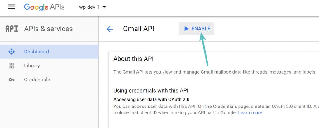 Habilitar Gmail API