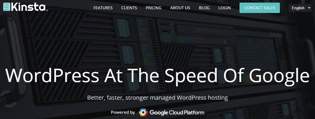 Ejemplo de un alojamiento de WordPress