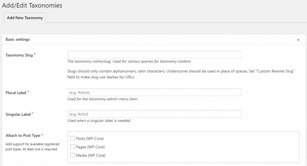 Crear una taxonomía personalizada con Custom Post Type UI