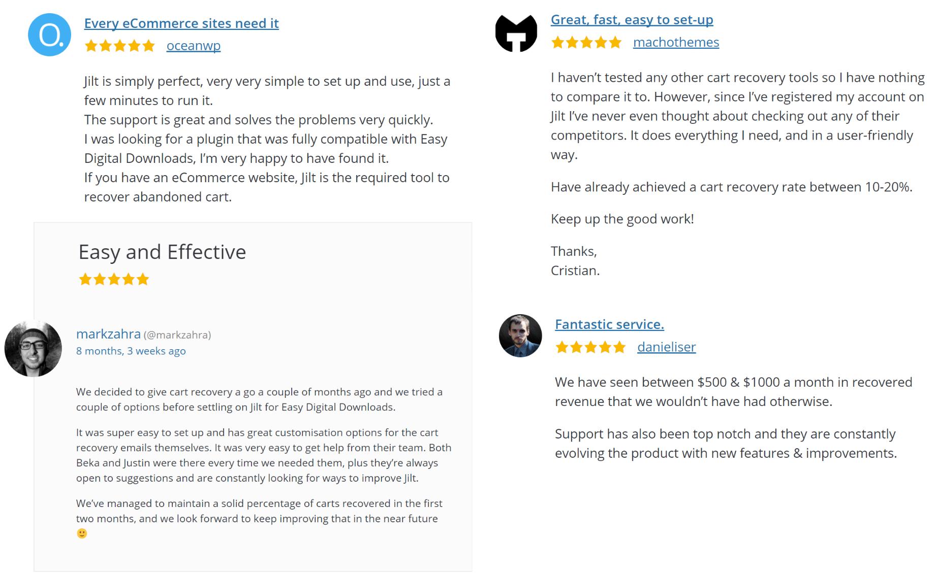 Jilt comentarios