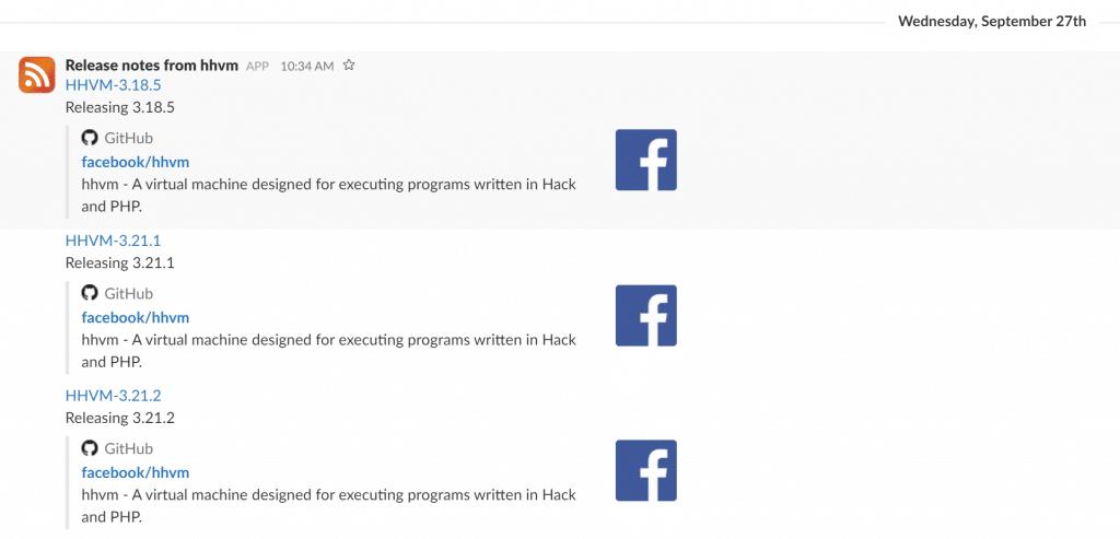 Slack RSS
