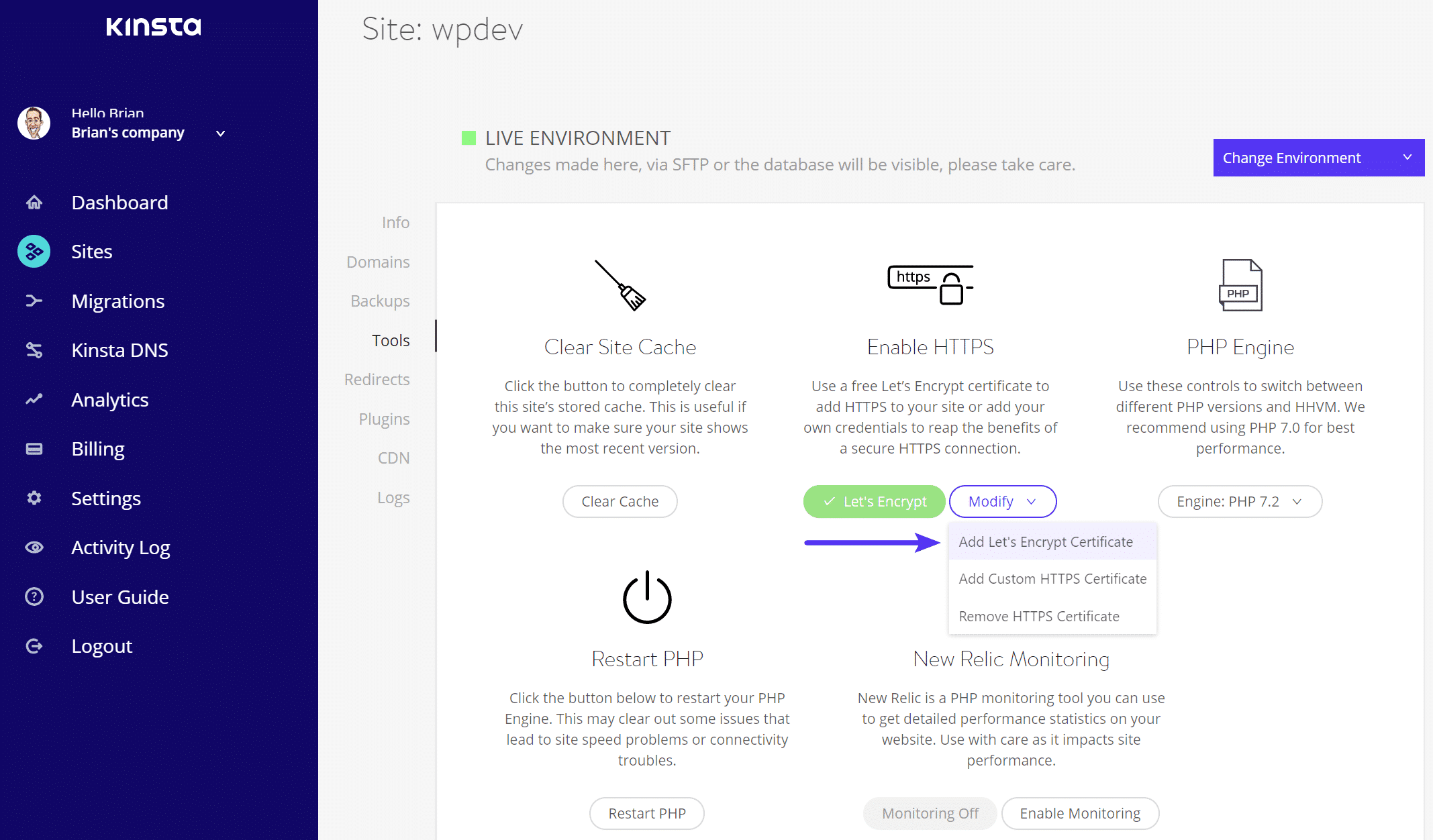Agregar SSL (Let's Encrypt)