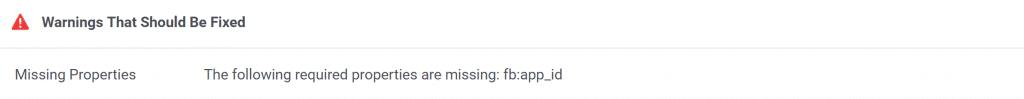 Las Siguientes Características Requeridas Faltan: fb:app_id