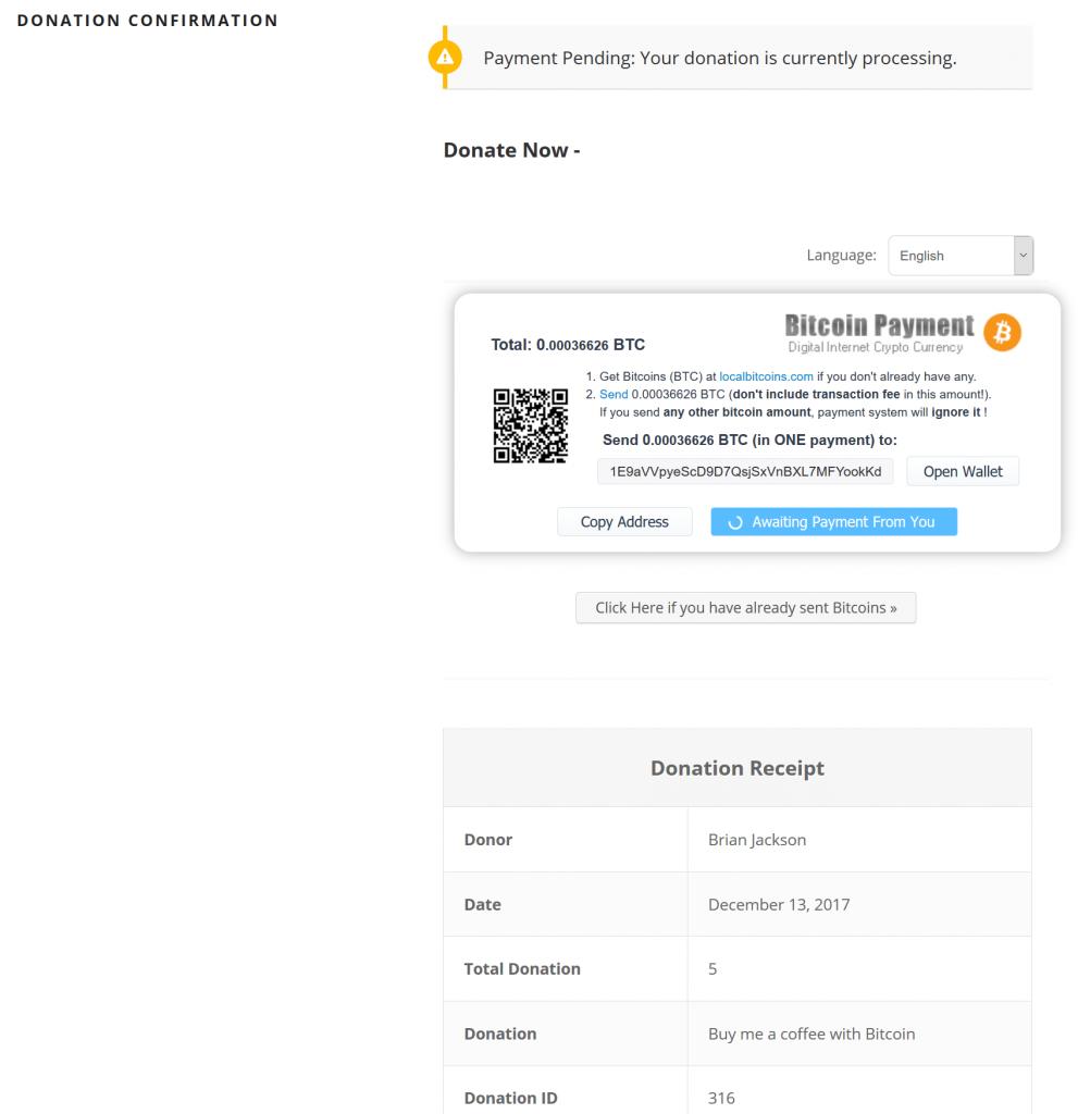 Enviar Bitcoin