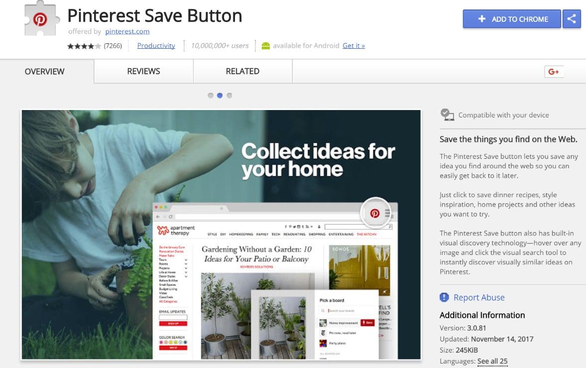 Botón de Guardar en Pinterest