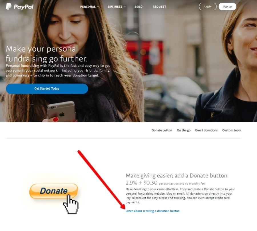 Aprenda más sobre cómo crear un botón de donativo