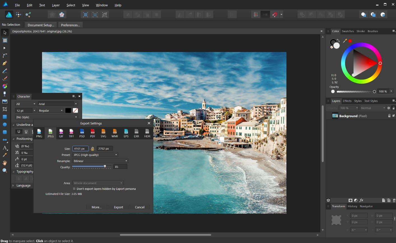 Optimice fotos para un travel blog