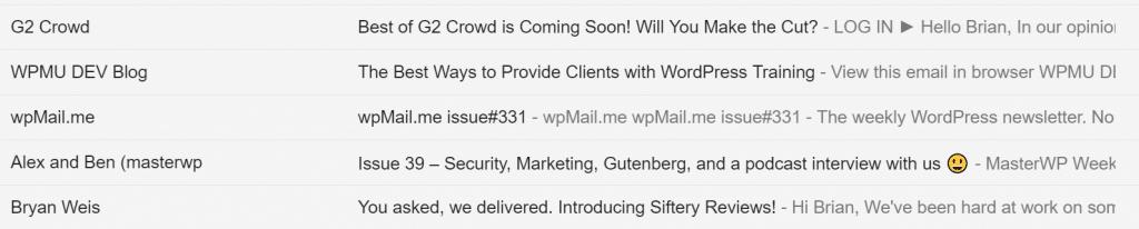 Línea de asunto de marketing de correo electrónico