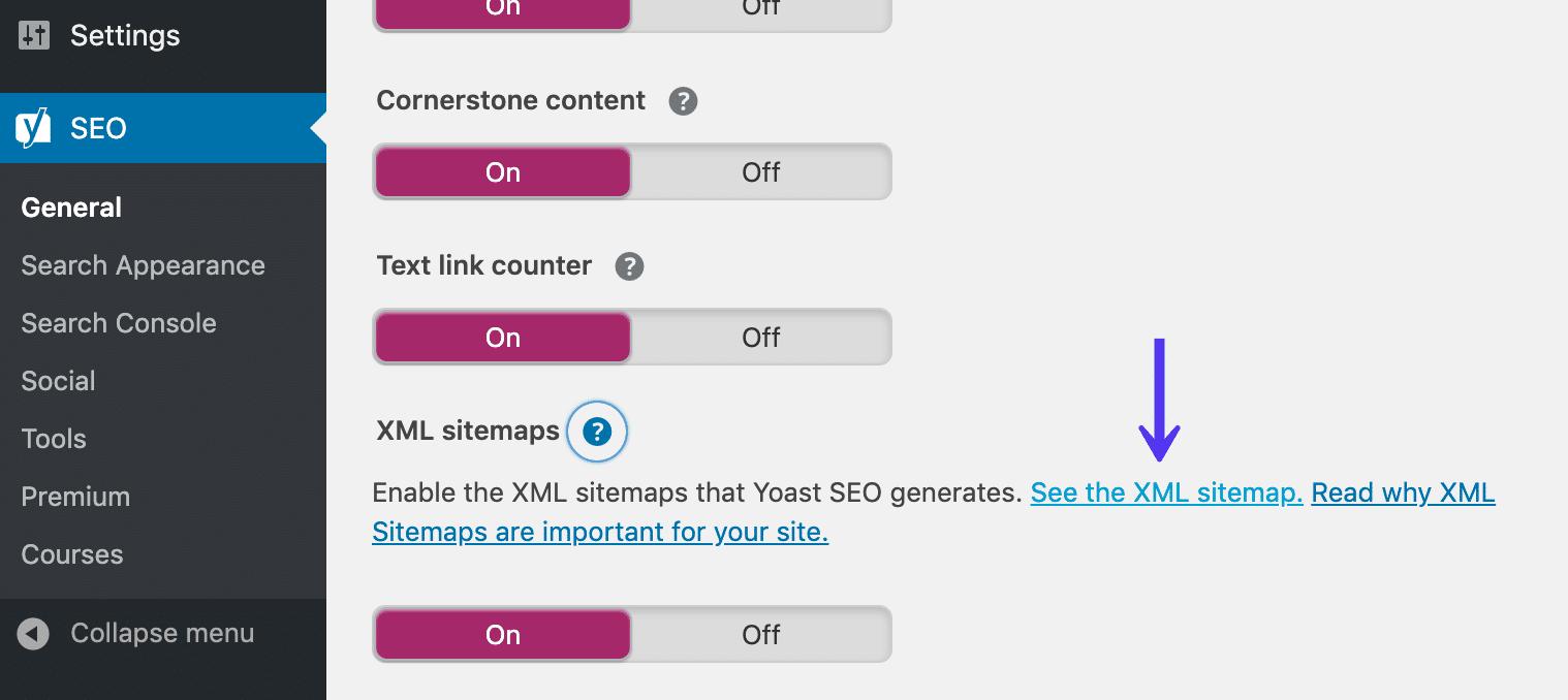 WordPress mapa del sitio