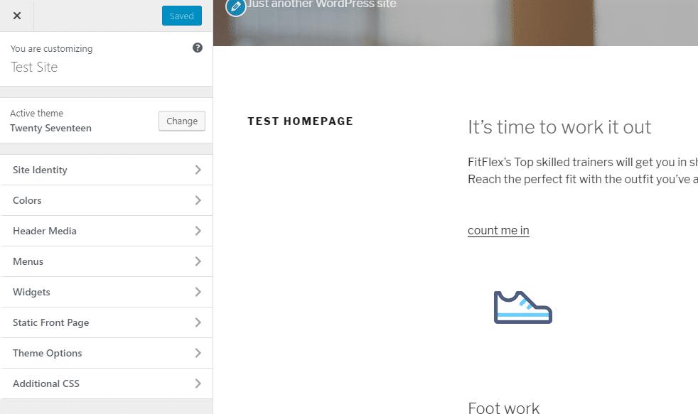 El personalizador de temas de WordPress