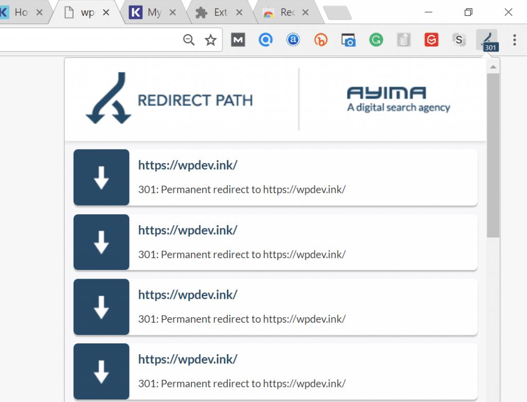 Redirigir ruta de acceso