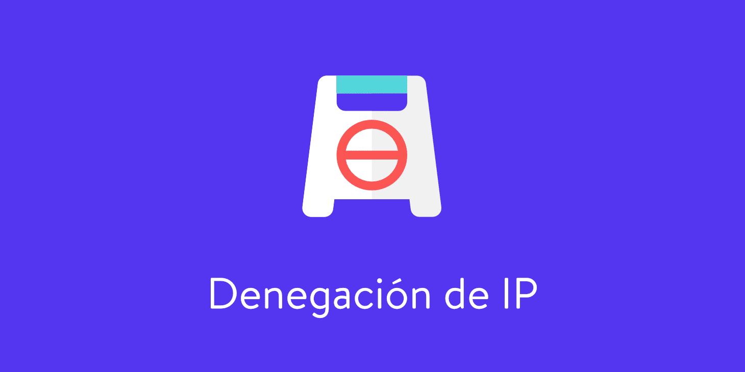 bloquear una dirección ip
