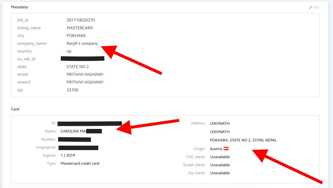 Usuario con actividad fraudulenta