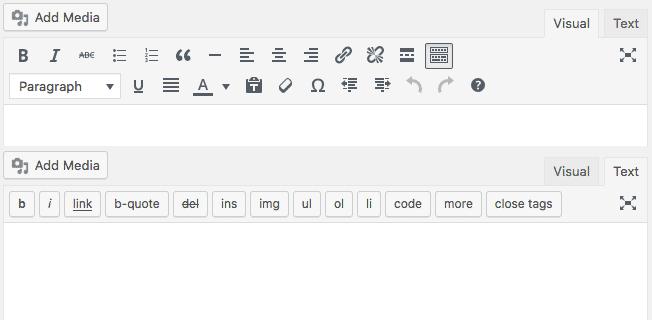 Editores visuales y de texto comparados