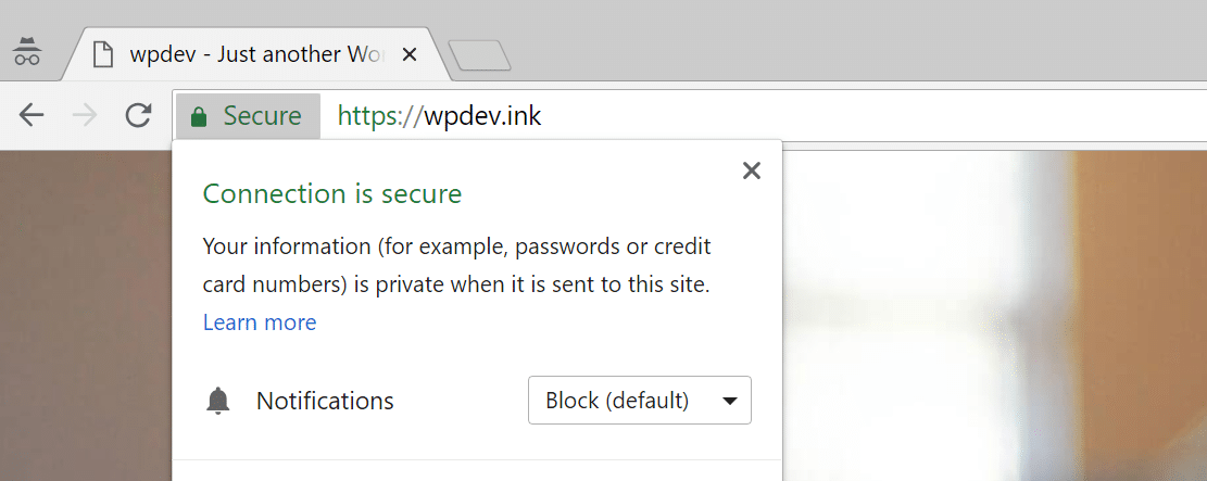 Advertencia de falta de contenido mezclado en Chrome