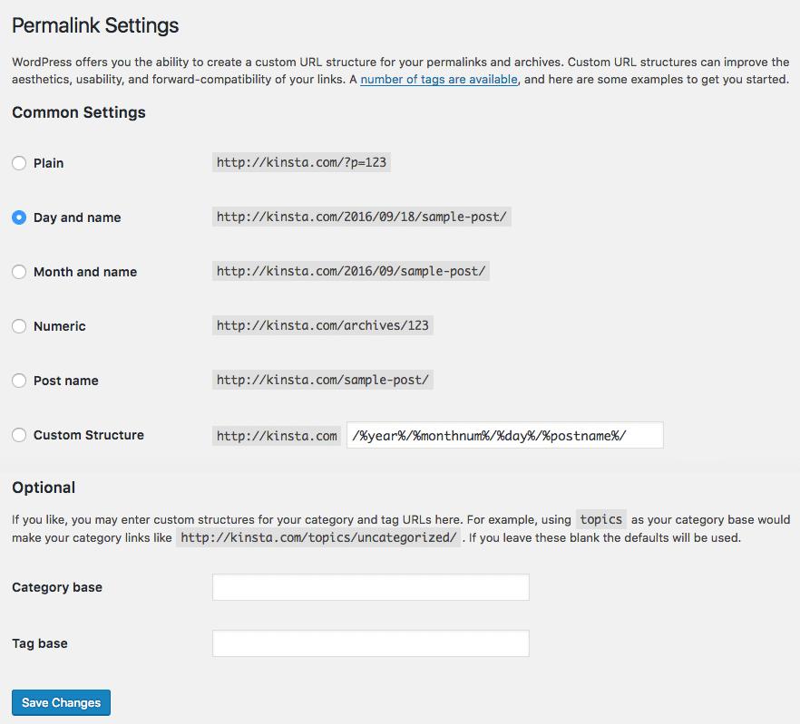 El admin puede verificar de forma sencilla su estructura favorita desde las Opciones