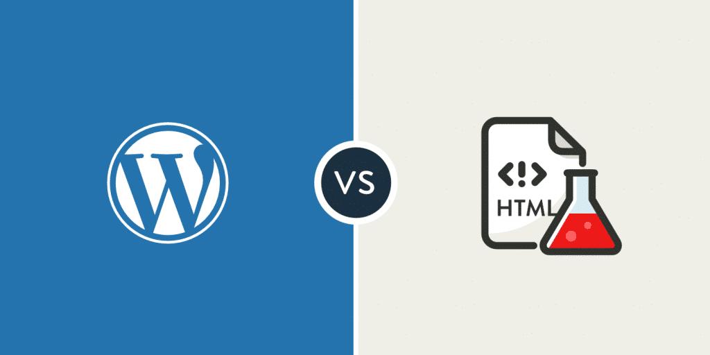 wordpress vs html estático