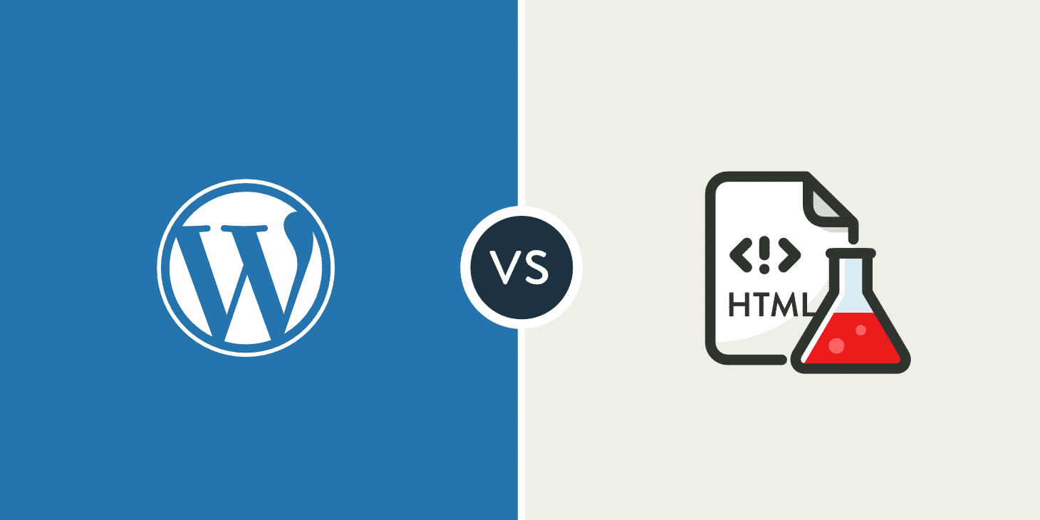 wordpress vs html estático