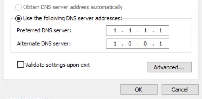 Direcciones de servidor DNS