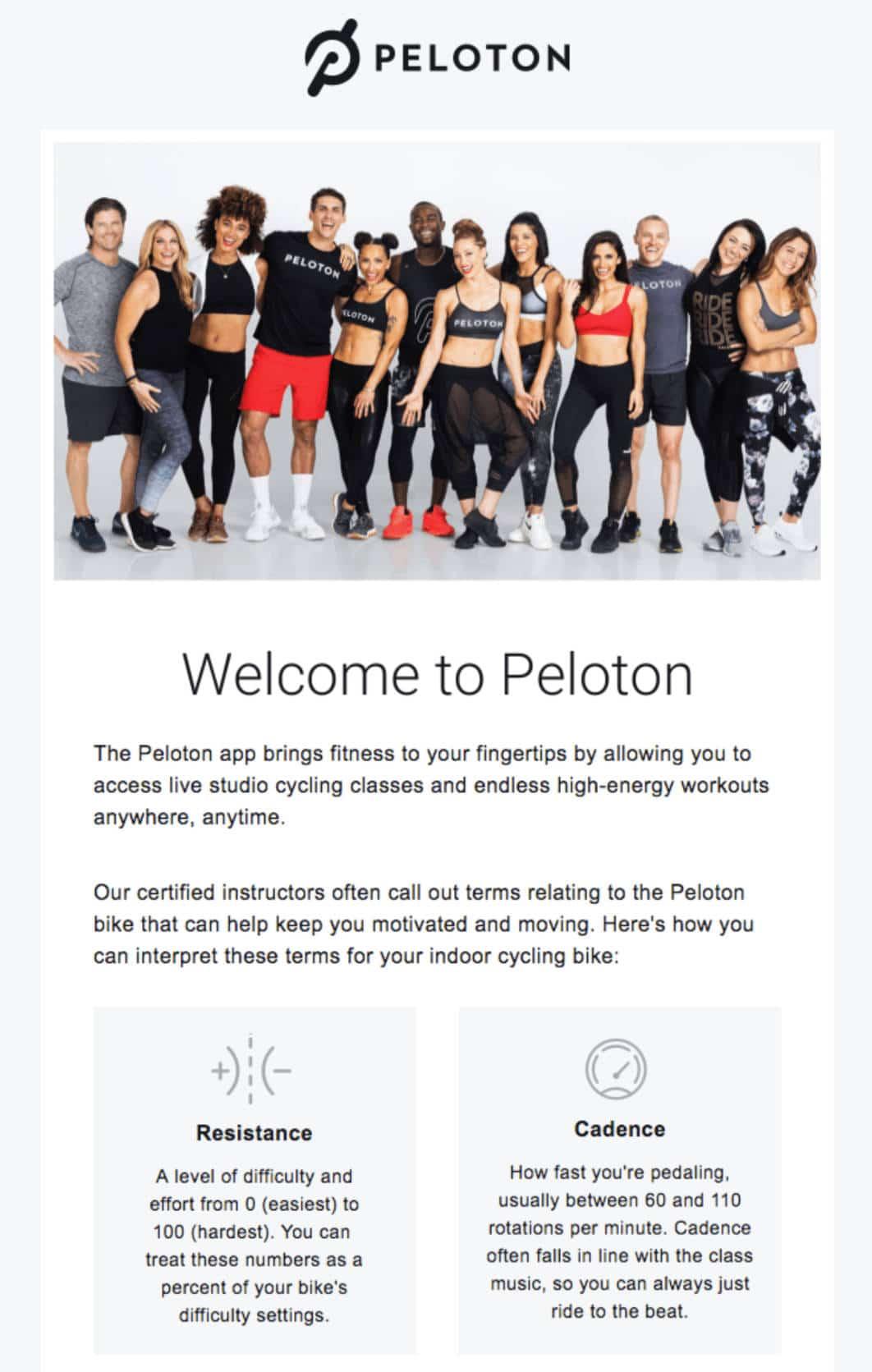 Ejemplo de email de bienvenida