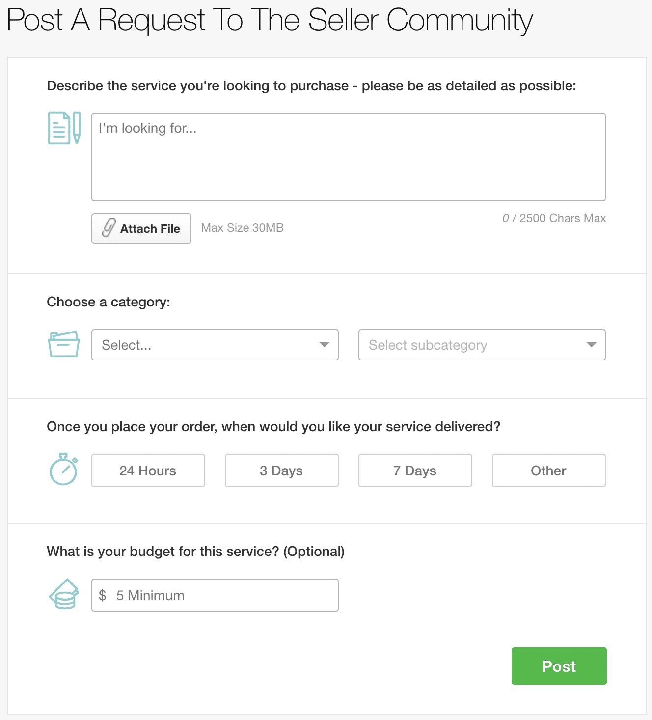 Trabajo personalizado de Fiverr