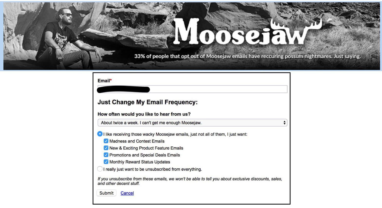 Frecuencia de los emails