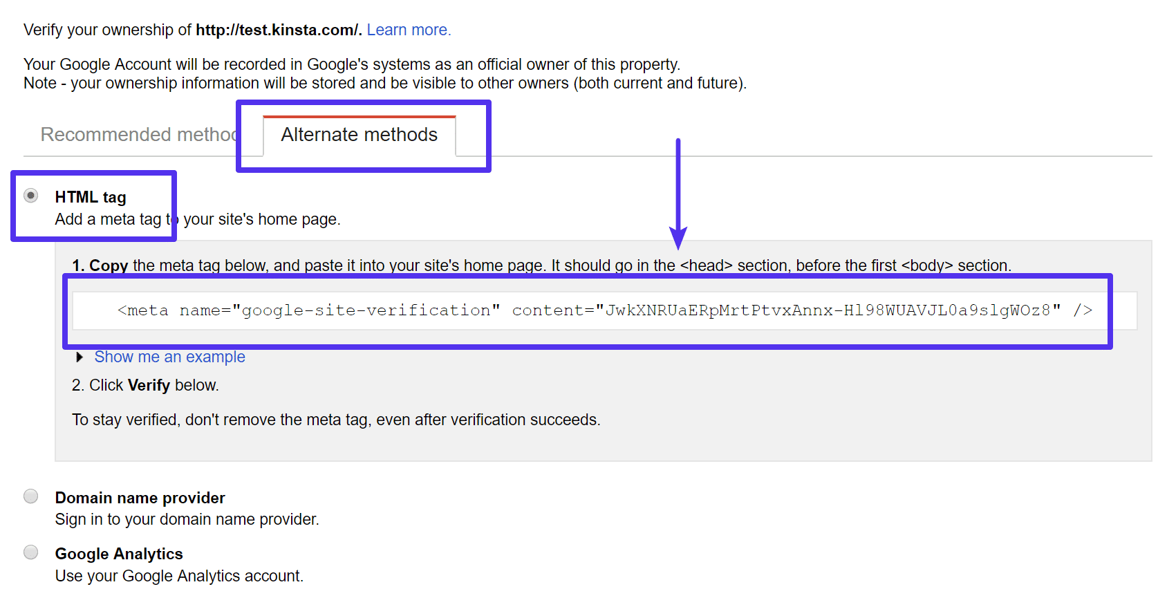 Where to find Google verification code