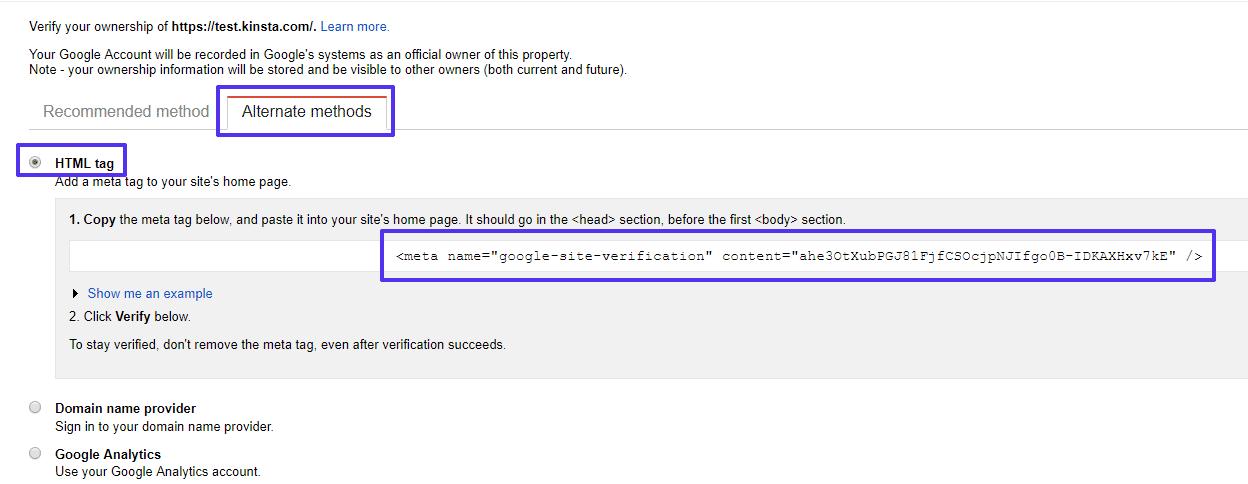Meta etiqueta HTML