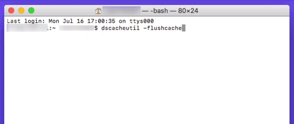 Limpiar la cache del DNS en una Mac