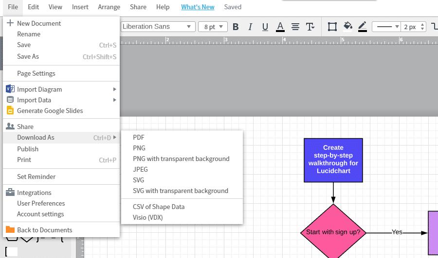Descargue de diagrama de flujo como vector