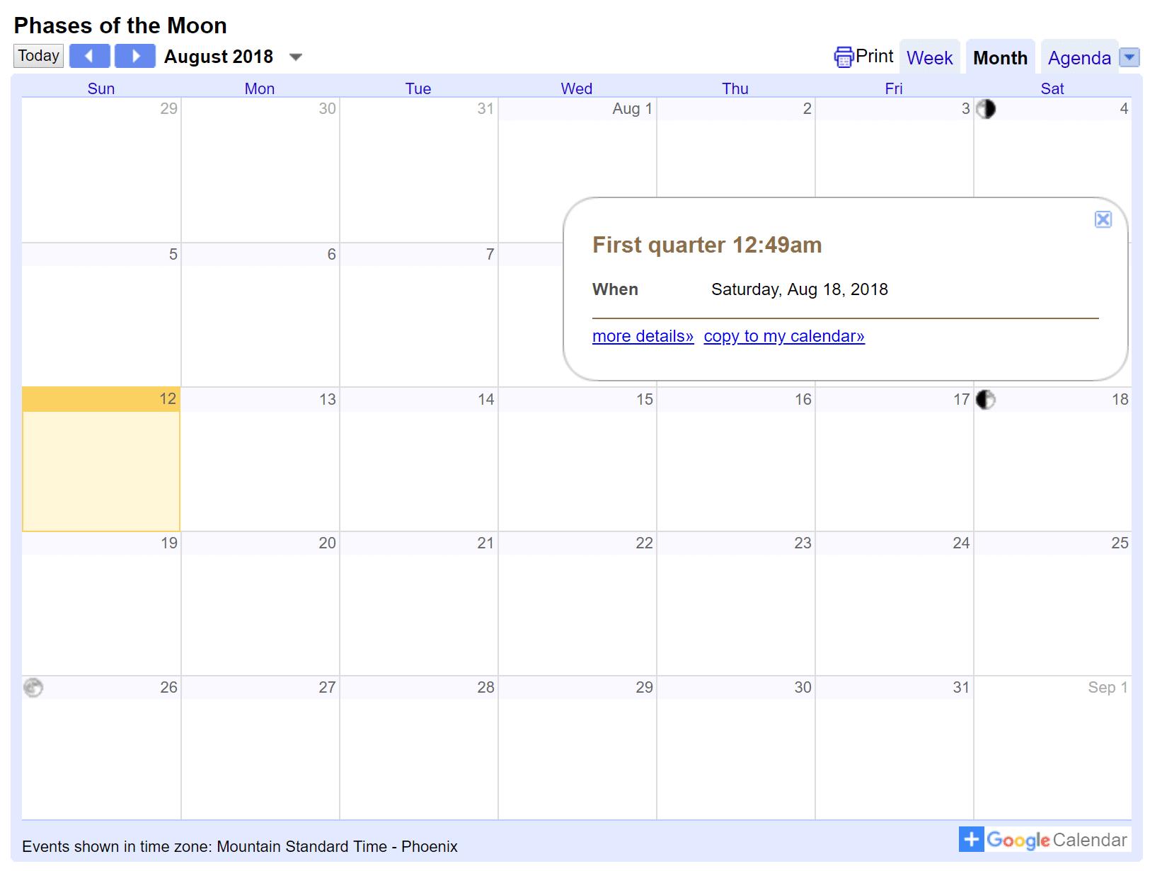 Google Calendar integrado en el sitio de WordPress