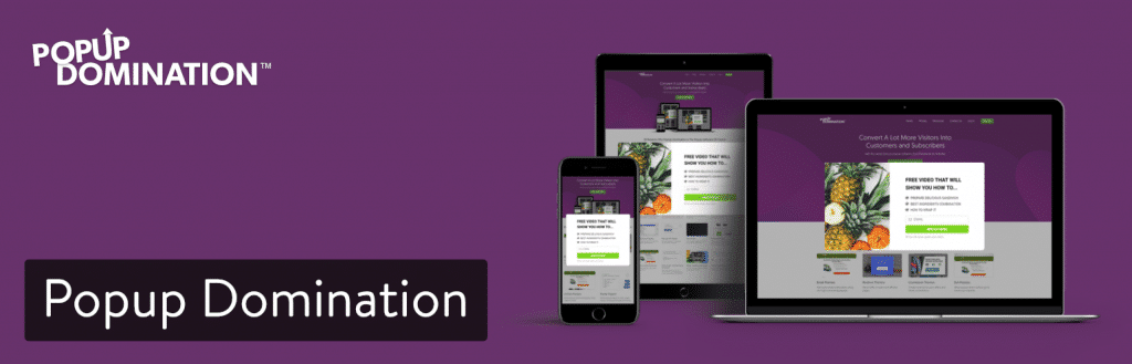 El plugin de PopUp Domination para WordPress