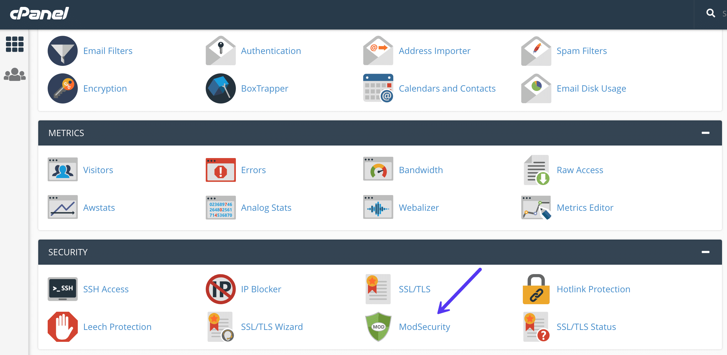 cPanel ModSecurity