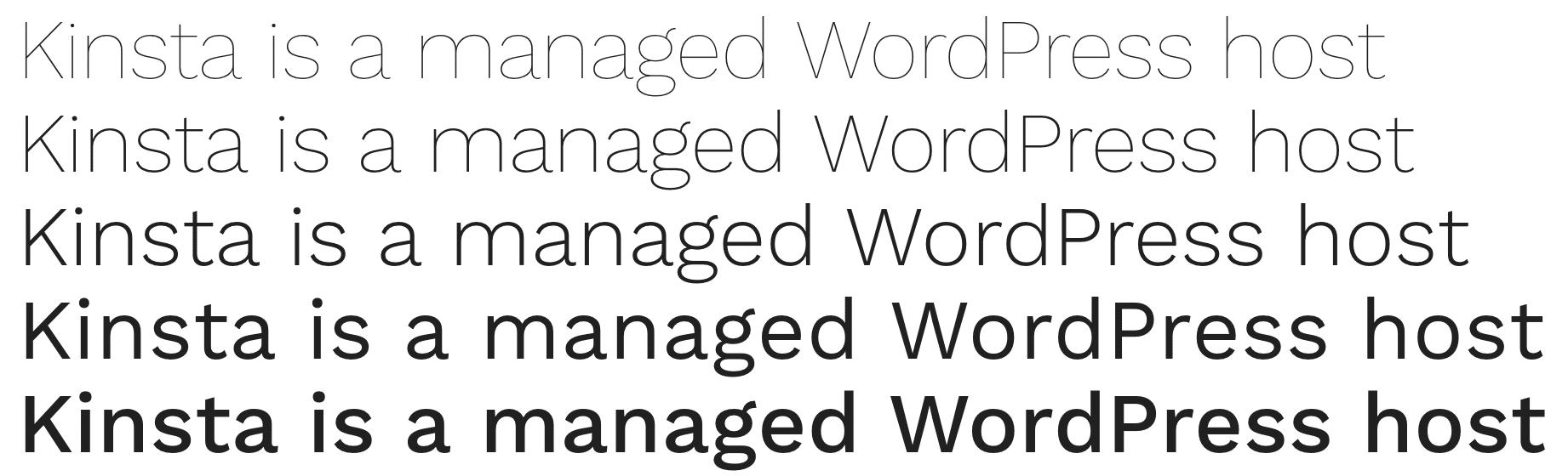 Fuente Work Sans de Google