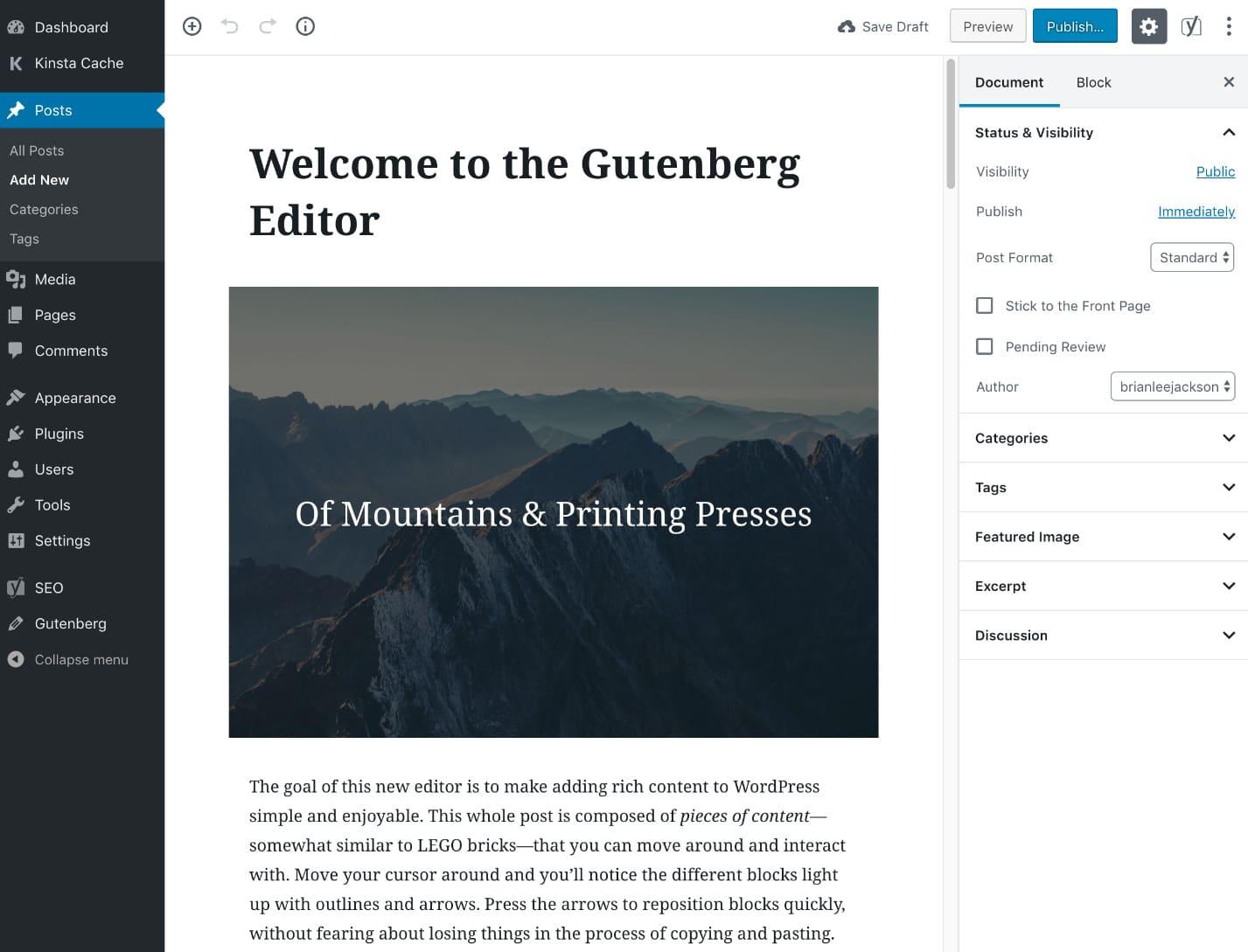 Editor de Gutenberg
