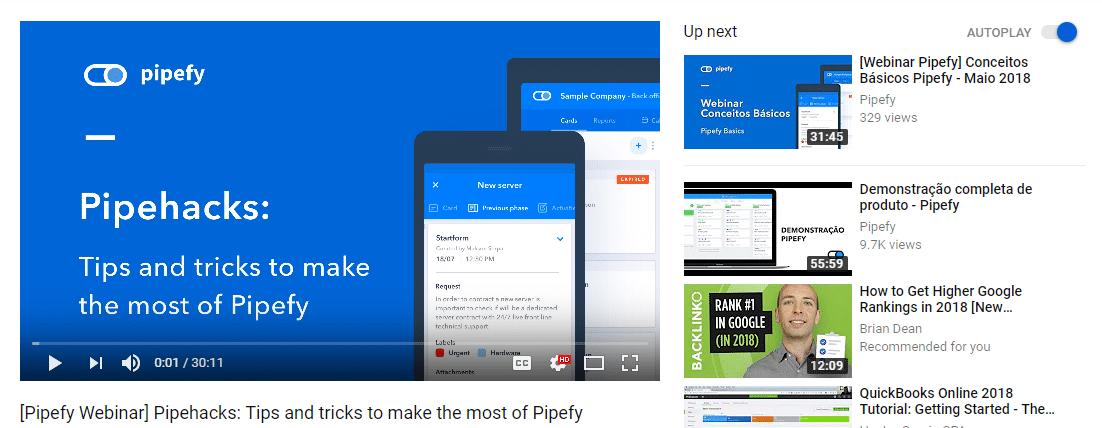 Seminario web de Pipefy