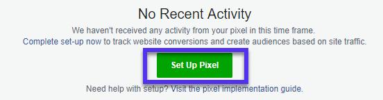 Estableciendo un Facebook pixel