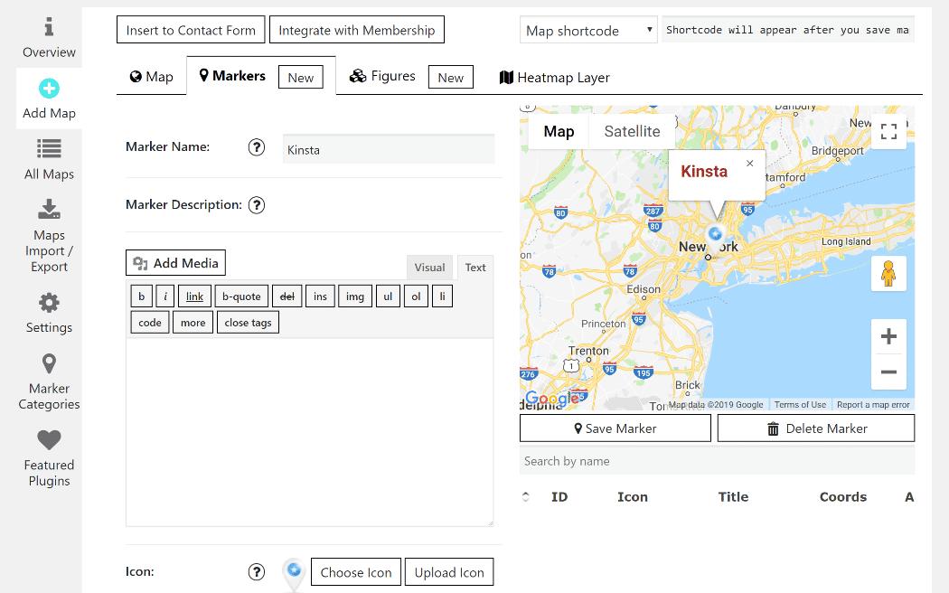 Interfaz de Google Maps Easy