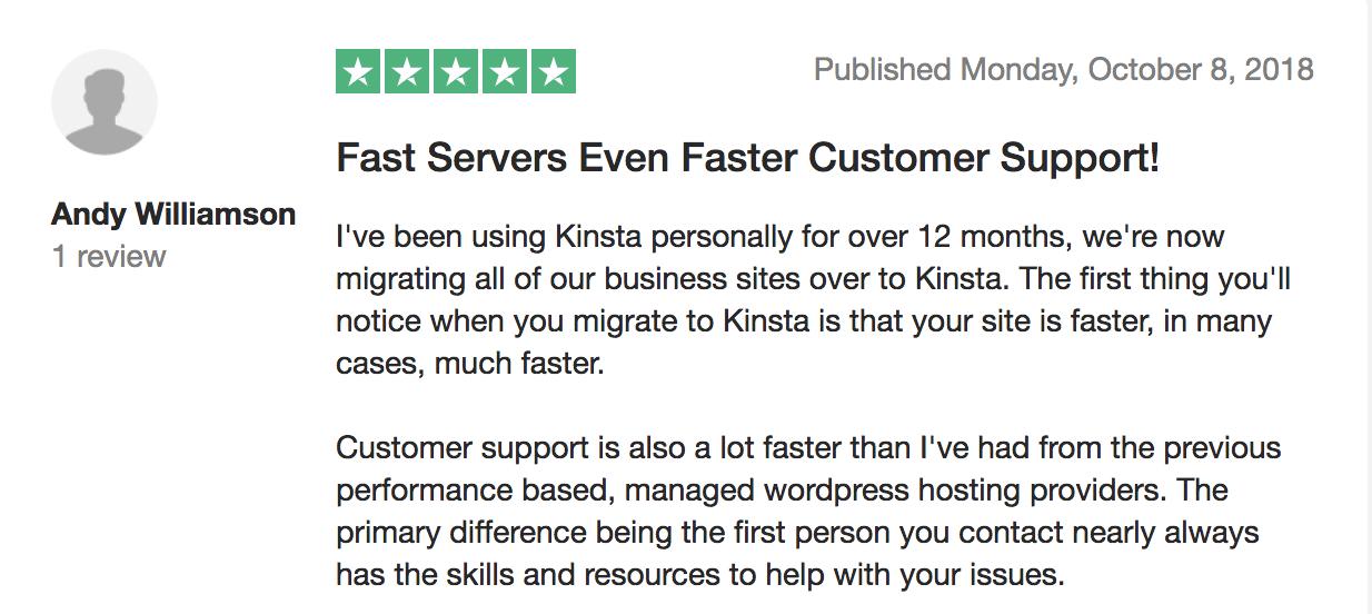 Reseña de Kinsta