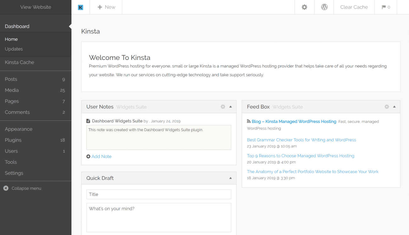 Tema de admin de Kodeo para WordPress
