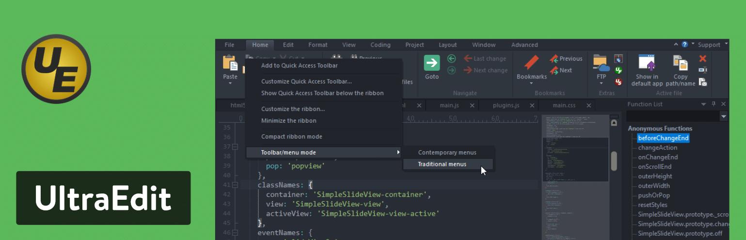 Editor de texto UltraEdit