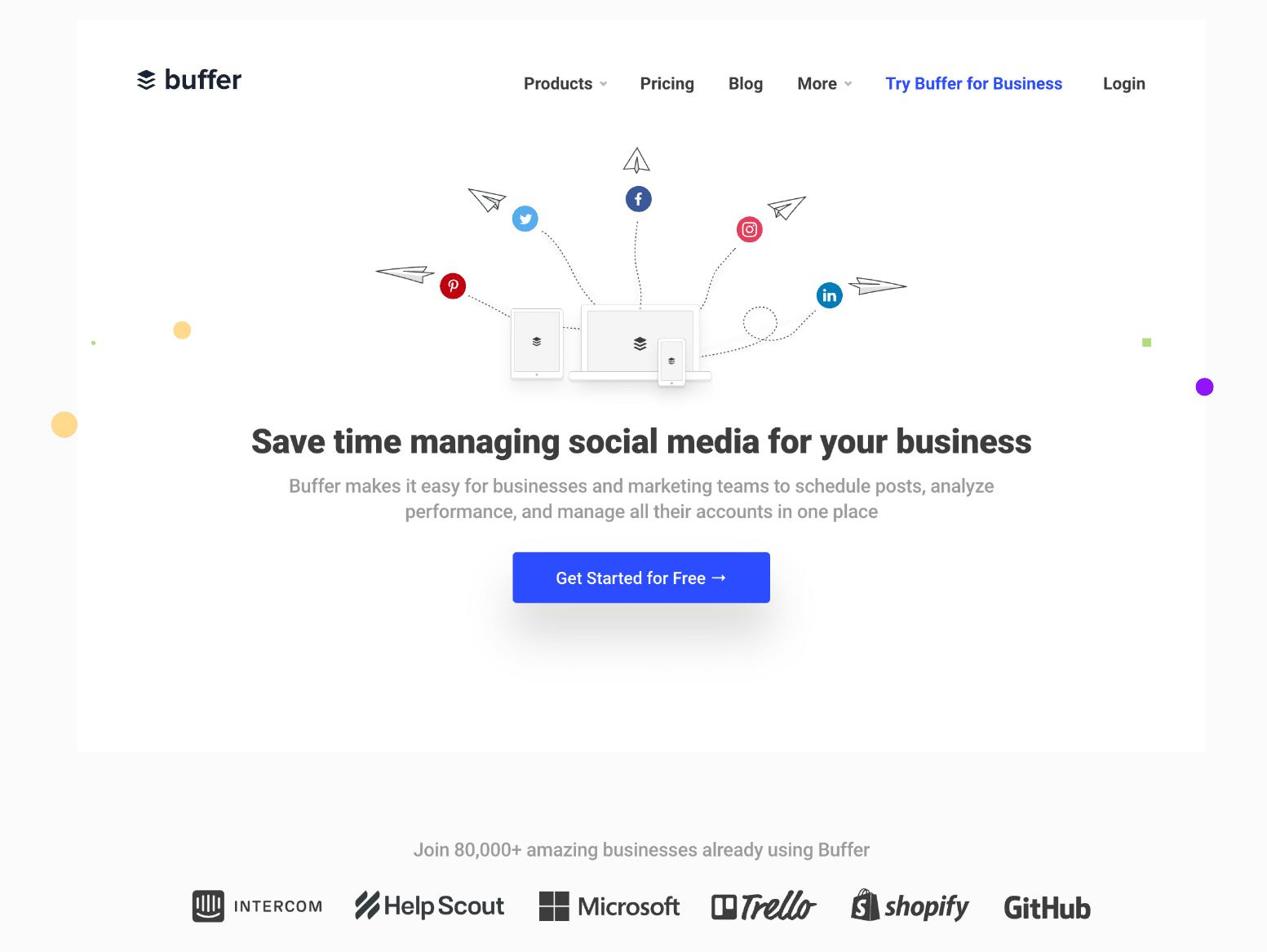 Herramienta de redes sociales de Buffer