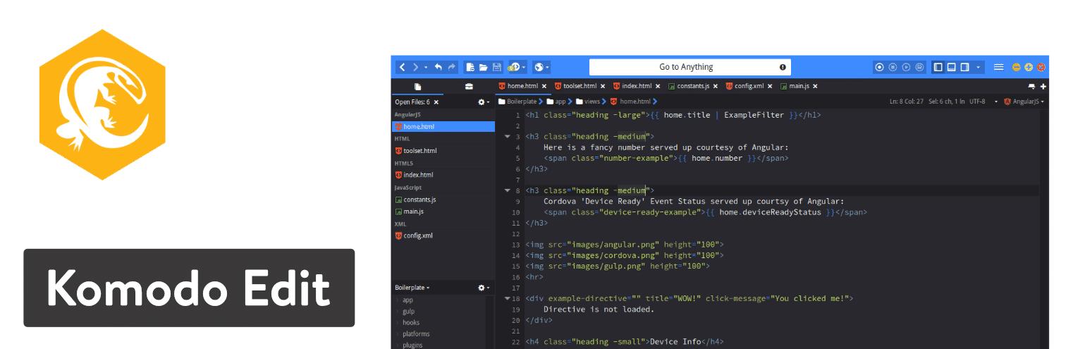 Editor de texto Komodo Editor
