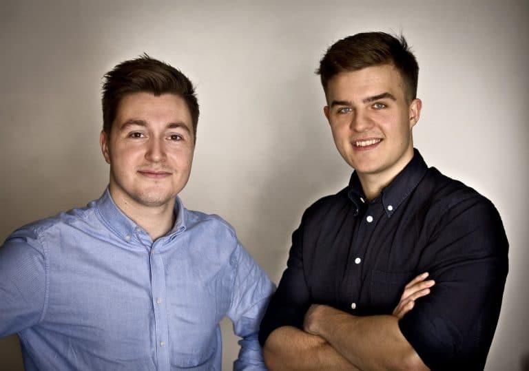 Los Co-fundadores Kasper Langmann y Mikkel Sciegienny