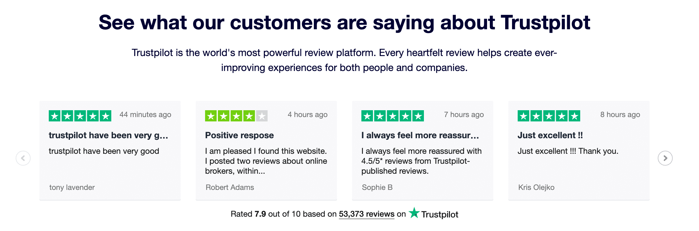 Reseñas de clientes de ecommerce