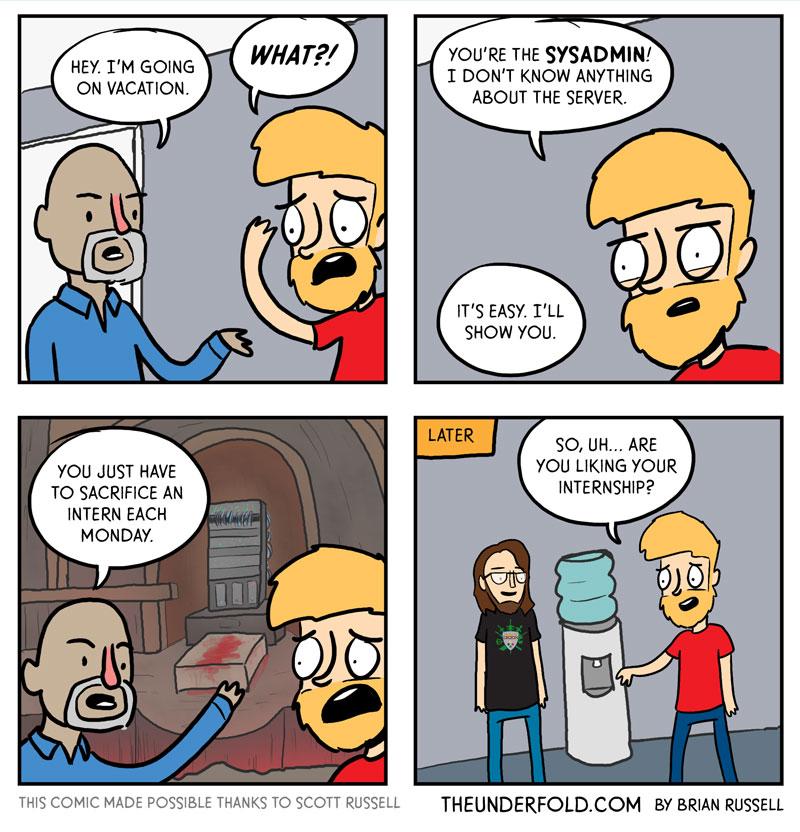 Comic sobre el Sysadmin