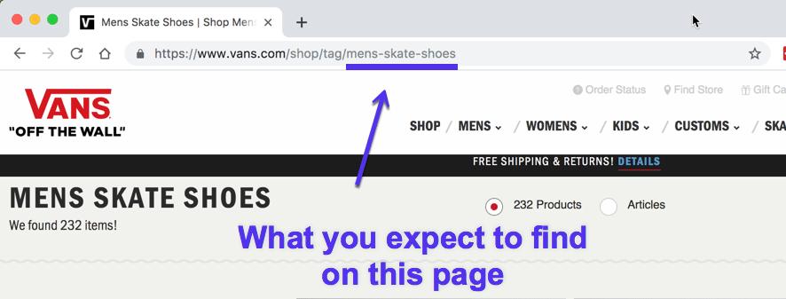 Estructura del URL para SEO