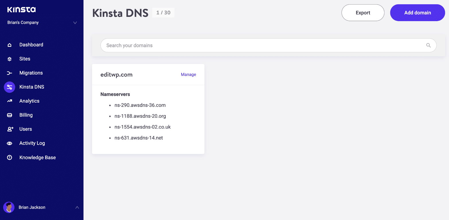 Kinsta DNS – Amazon Route 53